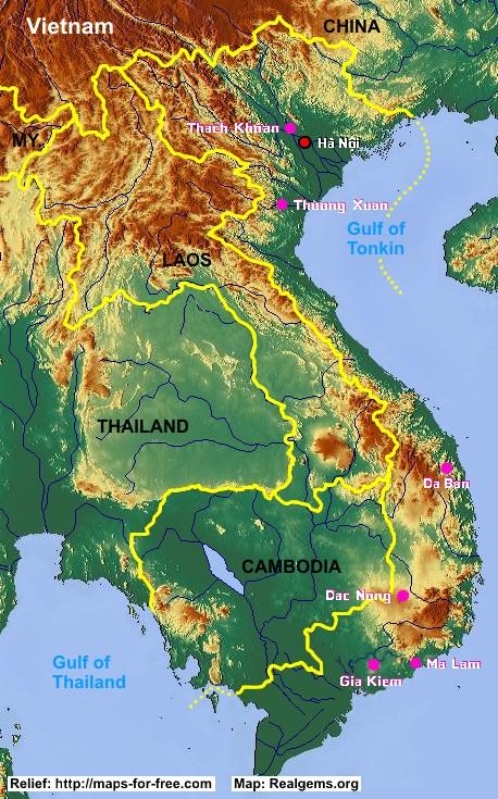 Gemstone Deposits: Vietnam
